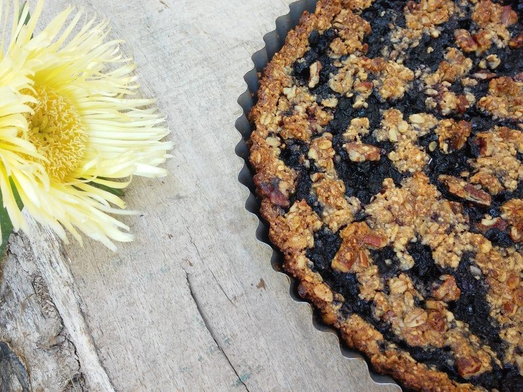 קראמבל אוכמניות טבעוני ללא גלוטן וללא סוכר