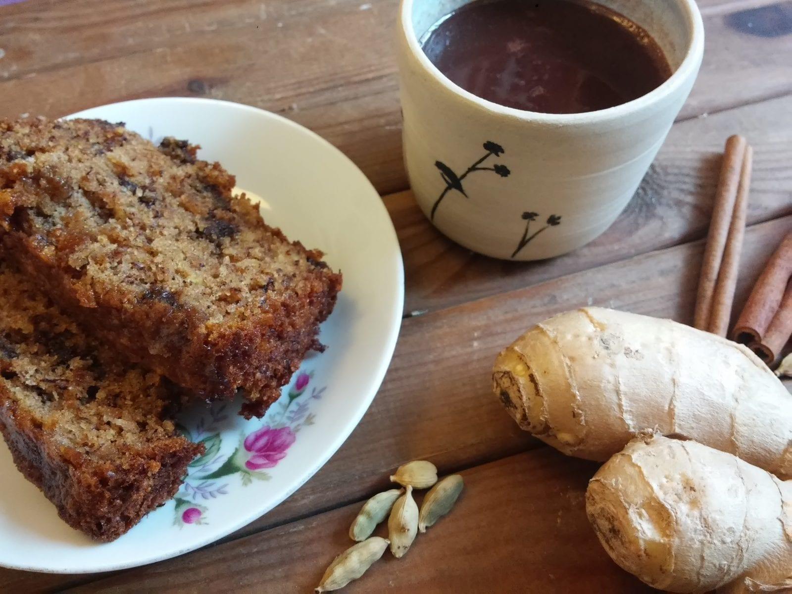 עוגת/מאפינס בננות שוקולד ושוקוצ'אי טבעוני פינוקי חורף