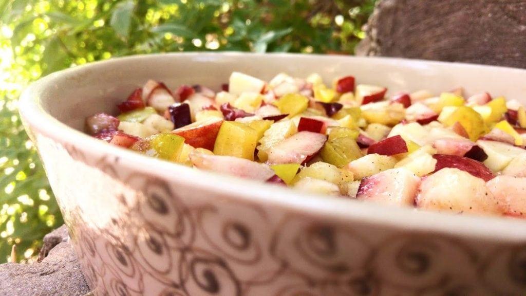 קראמבל פירות קיץ טבעוני ללא גלוטן