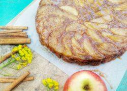 עוגת תפוחים הפוכה לראש השנה