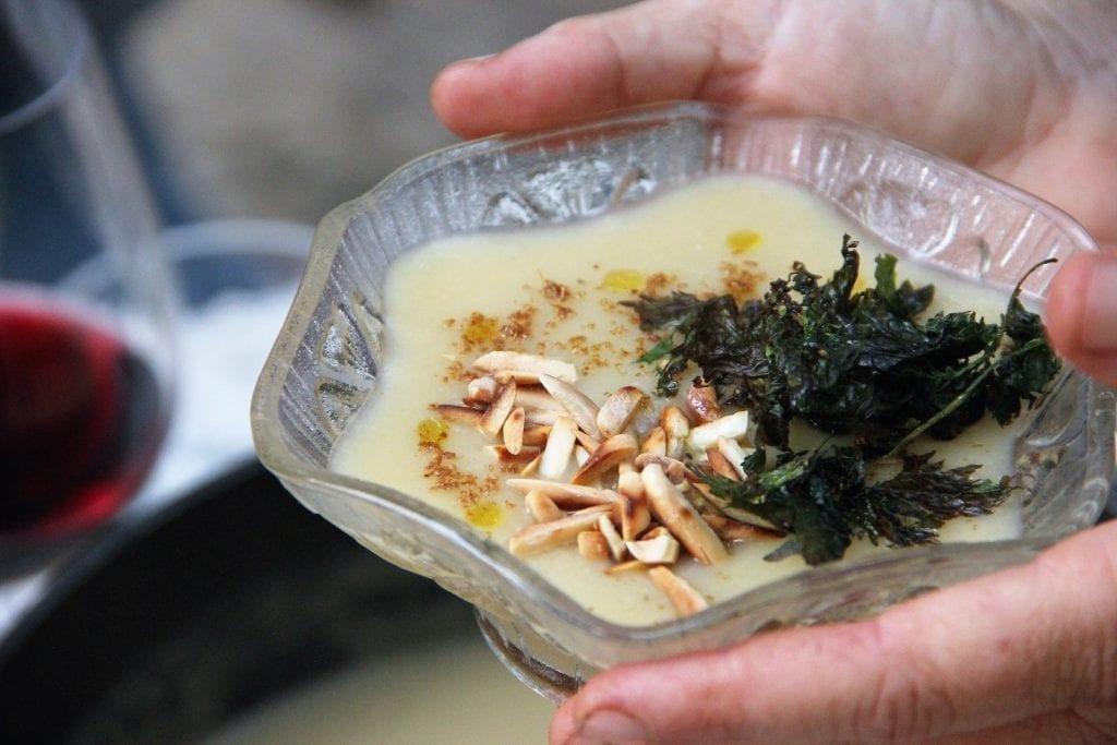 מרק וישיסואז מקומי טבעוני
