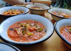 גספאצ'ו עגבניות שרופות ונירית הקמה