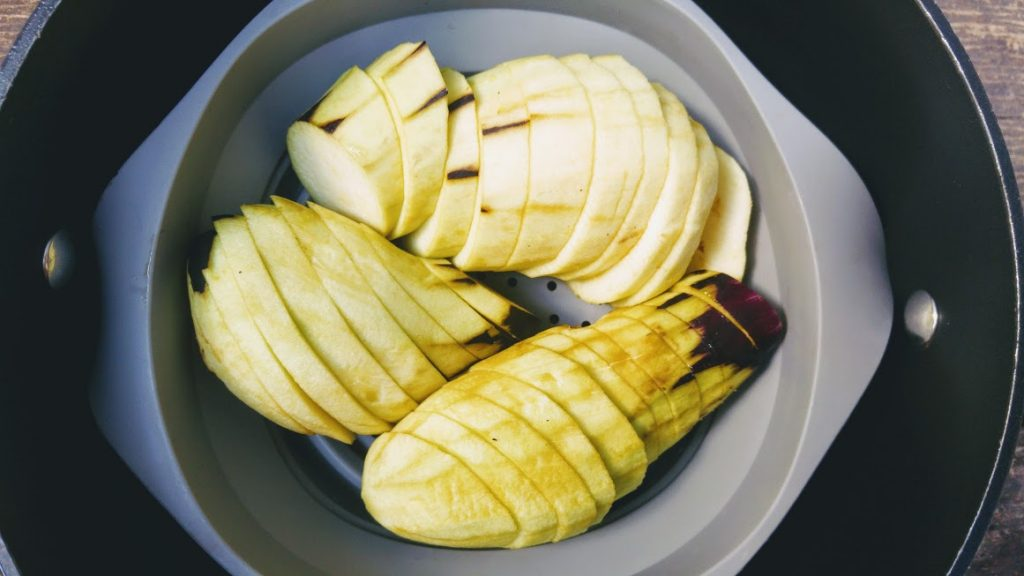 קדאיף מלוח במילוי חציל מנגולד וממרח לימון כבוש