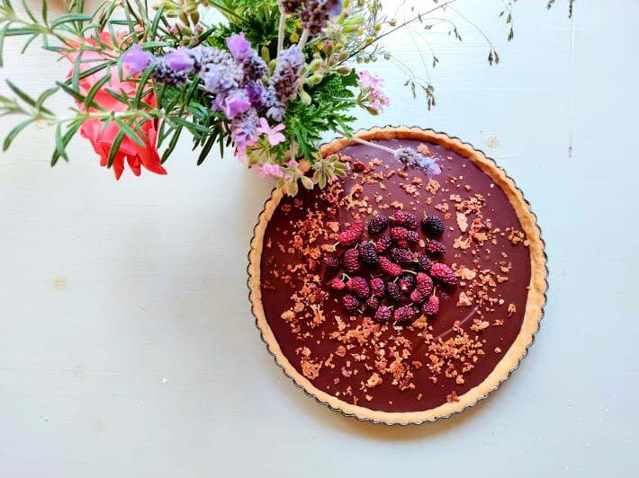 טארט שוקולד ושמן זית